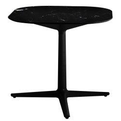 Mobilier Masa Kartell Multiplo design Antonio Citterio, 78x78cm, h74cm, blat cu finisaj marmura, negru
