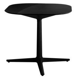 Mobilier Masa Kartell Multiplo design Antonio Citterio, 78x78cm, h74cm, blat sticla, negru