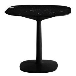 Mobilier Masa Kartell Multiplo design Antonio Citterio, 78x78cm, h74cm, baza patrata, blat cu finisaj marmura, negru