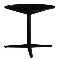 Mobilier Masa rotunda Kartell Multiplo design Antonio Citterio, d78cm, h74cm, blat cu finisaj marmura, negru