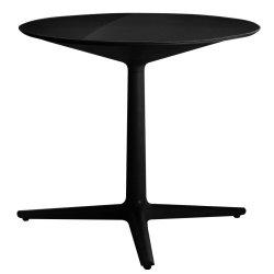 Mobilier Masa rotunda Kartell Multiplo design Antonio Citterio, d78cm, h74cm, blat sticla, negru