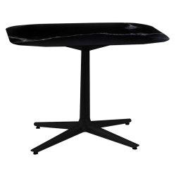 Mobilier Masa Kartell Multiplo design Antonio Citterio, 99x99cm, h74cm, blat cu finisaj marmura, negru