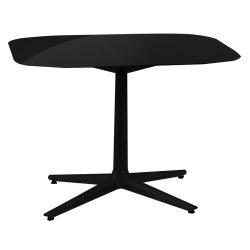 Mobilier Masa Kartell Multiplo design Antonio Citterio, 99x99cm, h74cm, blat sticla, negru