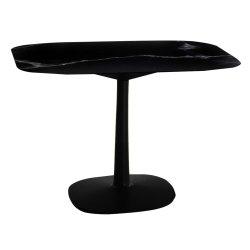 Mobilier Masa Kartell Multiplo design Antonio Citterio, 99x99cm, h74cm, baza patrata, blat cu finisaj marmura, negru
