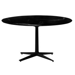 Mobilier Masa rotunda Kartell Multiplo design Antonio Citterio, d118cm, h74cm, blat cu finisaj marmura, negru