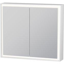 Dulap cu oglinda Duravit L-Cube 800, cu iluminare LED si 2 rafturi sticla