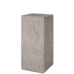 Suporturi lumanari Suport patrat lumanare Engels Kerzen Matteo 35 x 35 x 80 cm, Natur-Beton
