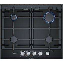 Default Category SensoDays Plita gaz incorporabila Bosch PRP6A6N70 Seria 8, vitroceramica, 4 arzatoare, 60cm, gratare fonta, negru