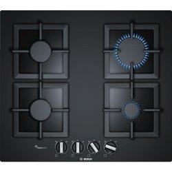 Default Category SensoDays Plita gaz incorporabila Bosch PPP6A6B20 FlameSelect Serie 6, 60cm, 4 arzatoare, gratare fonta, sticla neagra
