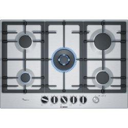 Default Category SensoDays Plita gaz incorporabila Bosch PCR7A5M90 FlameSelect Serie 6, 75cm, 5 arzatoare, gratare fonta, inox