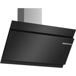 Hote Hota decorativa Bosch DWK98JQ60 Seria 6, design inclinat, 90cm, max 840mc/h, negru