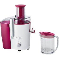 Electrocasnice Storcator de fructe si legume Bosch MES25C0 700W, tub alimentare XL, alb - rosu cassis