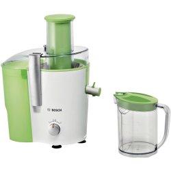 Electrocasnice mici Storcator de fructe si legume Bosch MES25G0 700W, tub alimentare XL, alb - verde mar