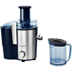Electrocasnice Storcator de fructe si legume Bosch MES3500 700W, tub alimentare XL, albastru - silver inox