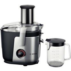 Electrocasnice mici Storcator de fructe si legume Bosch MES4000 1000W, tub alimentare XXL, cutit ceramic, negru-silver