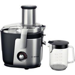 Electrocasnice mici Storcator de fructe si legume Bosch MES4010 1200W, tub alimentare XXL, cutit ceramic, negru-silver