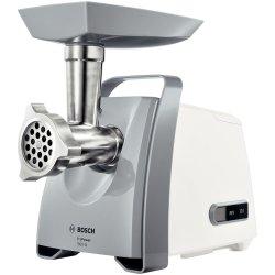 Electrocasnice mici Masina de tocat Bosch ProPower MFW45020 2.7 kg/min, accesoriu carnati, alb/gri
