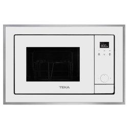 Electrocasnice mari Cuptor cu microunde incorporabil Teka ML 820 BIS 18 litri, 700W, interior inox, grill 1000W, Inox antipata/cristal alb