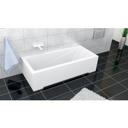 Cazi de baie simple Cada rectangulara Besco Modern 140x70 complet echipata cu panouri si sifon