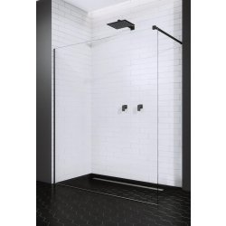 Cabine de dus Walk-In Cabina de dus tip Walk-in Radaway Modo II Black 70cm