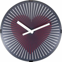 Default Category SensoDays Ceas de perete NeXtime Motion Heart 30cm Red