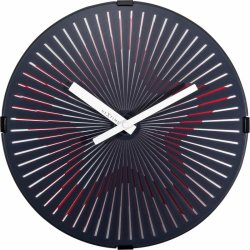 Default Category SensoDays Ceas de perete NeXtime Motion Star 30cm Red
