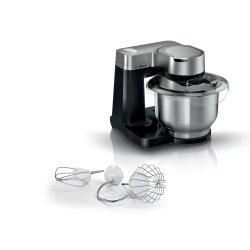 Electrocasnice mici Robot de bucatarie Bosch MUMS2VM00 Serie2, 900W, 7 trepte + Impuls, bol inox 3.8 litri, negru-argintiu