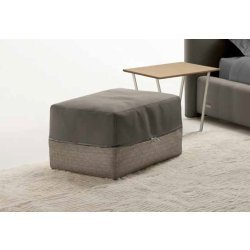 Default Category SensoDays Ottoman Gamma P68 62x52cm, h38cm, Bellagio Tricot 04 si piele Pampas E933, HandMade in Italy