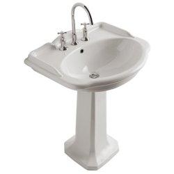 Obiecte sanitare Picior pentru lavoar Globo Paestum 71cm si 62cm