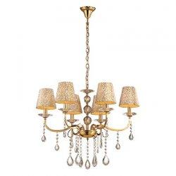 Candelabre & Lustre Lustra Ideal Lux Pantheon SP6, 6x40W, 70x80-145cm, auriu