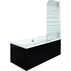 Paravane cada Paravan cada Besco Ambition 1, un element mobil, 75 x 130 cm, sticla opaca 5 mm, profil crom