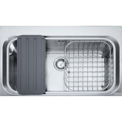 Chiuvete inox Chiuveta bucatarie Franke Acquario Line AEX 610-A cu 1 cuva, cu accesorii, 860x510mm, inox satinat