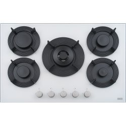 Default Category SensoDays Plita gaz incorporabila Franke Maris Free by Dror FHMF 755 4G DC C cu 5 arzatoare, 75x51cm, gratare fonta, Bianco