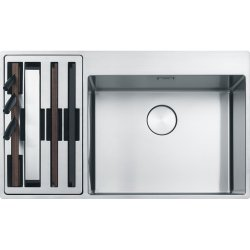 Chiuvete inox Chiuveta Franke Box Center BWX 220-54-27 stanga, 860x510mm, inox satinat