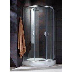 Cabina de dus semirotunda Radaway Premium Plus E 1900, 90x80 cm, sticla transparenta