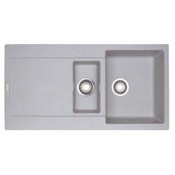 Chiuvete compozit Chiuveta bucatarie fragranite Franke Maris MRG 651 reversibila, 970x500mm, tehnologie Sanitized Alluminio