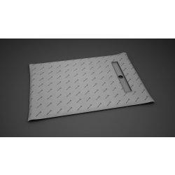 Rigole de dus Kit rigola de dus Radaway pe latura scurta RadaDrain 90x80cm placare 8-12mm