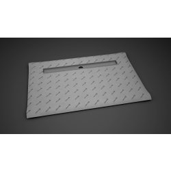 Rigole de dus Kit rigola de dus Radaway pe latura lunga RadaDrain 100x80cm placare 8-12mm