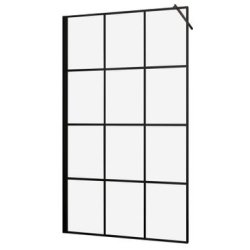 Cabina de dus tip Walk-in Sanotechnik Soho Black Edition Elite 120cm