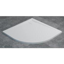 Default Category SensoDays Cadita de dus semirotunda SanSwiss Livada W20A, 80x80 cm slim, marmura sintetica, alb