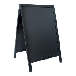 Table de scris & Accesorii Tabla de scris pentru afisaj stradal Securit Duplo 85x54.5x44cm cu rama lemn pin, negru