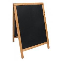 Table de scris & Accesorii Tabla de scris pentru afisaj stradal Securit Duplo 85x54.5x44cm cu rama lemn pin, teak
