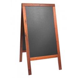Table de scris & Accesorii Tabla de scris pentru afisaj stradal Securit Duplo 125x69x56.5cm cu rama lemn pin, mahon