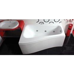 Cazi de baie simple Cada baie asimetrica Belform Senso 150x100x70cm, acril, orientare stanga