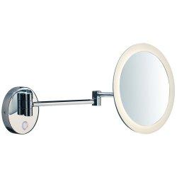 Mobilier de baie Oglinda cosmetica de perete SLV Maganda WL, iluminare LED 4.8W, d21.6cm, IP44, crom
