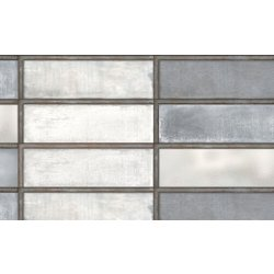 Placari & Pardoseli Faianta Diesel living Industrial Glass 10x30cm, 7mm, Steel