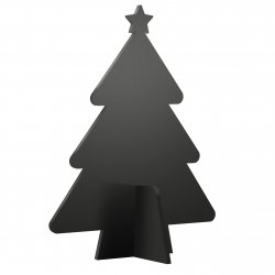 Tabla de scris Securit Silhouette 3D Tree 22x14x4cm, include 3 markere creta, negru