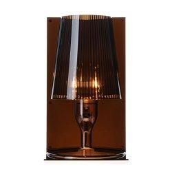 Iluminat electric Veioza Kartell Take design Ferruccio Laviani, E14 max 28W, h30cm, fumuriu transparent