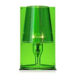 Iluminat electric Veioza Kartell Take design Ferruccio Laviani, E14 max 28W, h30cm, verde transparent
