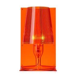 Iluminat electric Veioza Kartell Take design Ferruccio Laviani, E14 max 28W, h30cm, portocaliu transparent